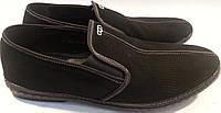 Туфли мужские замшевые р41-44 LORILO черные SEGG