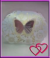 Свадебная бонбоньерка Бабочка в цветах