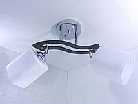 Люстра потолочная на 2 лампочки (28х12х50 см.) Хром или золото YR-6032/2-ch