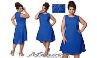 Легкое летнее платье с удлиненной спинкой батист размер 48-56