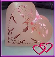 Свадебная бонбоньерка Голуби в сердце
