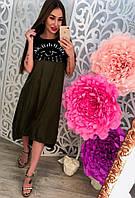 Молодежное платье трикотаж+котон
