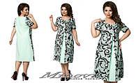 Нарядное женское платье короткий рукав размеры50-56