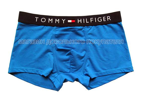 Мужские трусы боксёры Tommy Hilfiger (реплика) голубые, фото 2