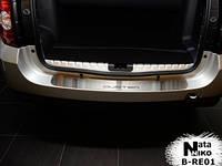 Накладка на задний бампер Renault DUSTER 2010- из нержавеющей стали
