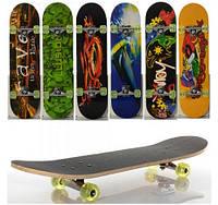 Скейт MS 0321-1, алюм подв, ПУ колеса, 78,5х20 см