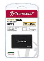 Кардридер Transcend USB 3.1 RDF9K UHS-II Black R260/W190MB/s, TS-RDF9K