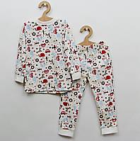 Детская пижама с мелким рисунком для мальчика