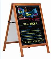 Рекламный щит мет. под мел, маркер или печать