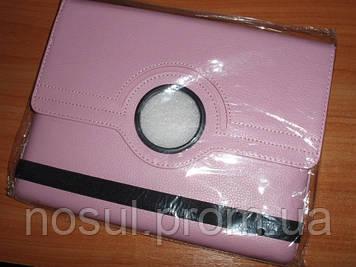Розовый чехол для iPad 2-3-4 поворотный, 360 градусов
