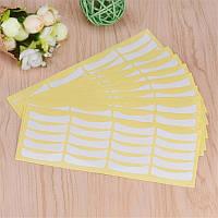 Бумажные патчи на листе для изоляции ресниц