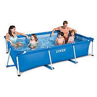 Сборный каркасный прямоугольный бассейн Intex 28272 Rectangular Frame Pool 300-200-75 см