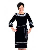 Черное элегантное женское платье вышитое