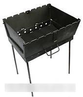 Складной мангал чемодан на 6 шампуров, толщина 2 мм, для похода или дачи