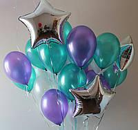 Облако из  гелиевых шаров (металлик 30 см.) Гелиевые шары Троещина. Гелиевые шары Киев.
