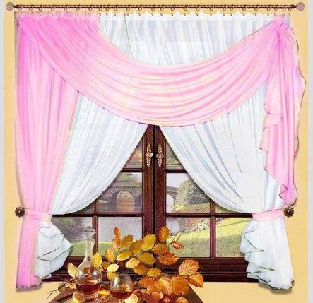 Комплект штор Милена (Розовый), кухонные, фото 2