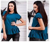 Женская блузка  с воланом по низу в стиле бохо   +цвета