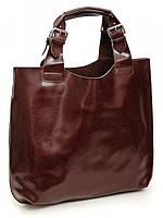 Большая женская кожаная сумка кофе GW-811