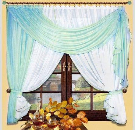 Комплект штор Милена (Голубой), кухонные, фото 2
