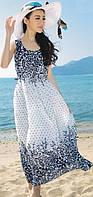 Женское летнее платье в горошек РМ7046
