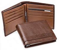 Бумажник с зажимом  для денег Ruff Ryder RE-0050B коричневый