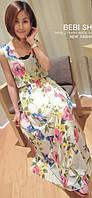 Женское летнее платье с яркими цветами РМ7049