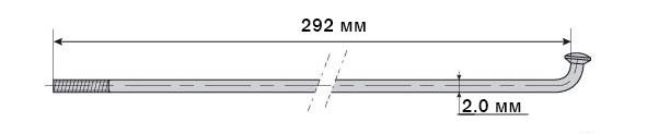 Спица Mach1 Inox Plus 2/292/