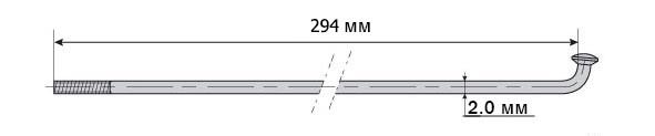 Спица Mach1 Inox Plus 2/294/