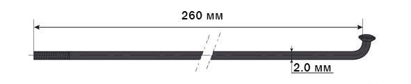 Спица Mach1 GALVA черн 2/260/