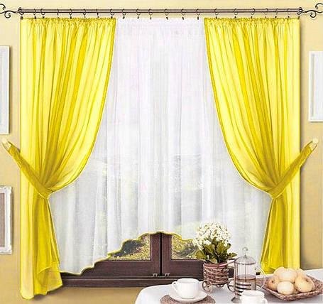 Комплект штор Джоанна Желтый, кухонные, фото 2