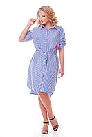 Платье-рубашка  женская Ассоль полоска