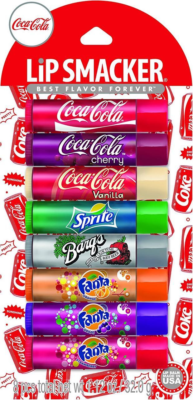 Бальзамы для губ Lip Smacker Coca Cola набор 8 шт