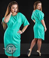 Женское платье на весну-лето, мятное - 14052