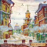 Ткань с рисунком для вышивки бисером Зачарованная улица