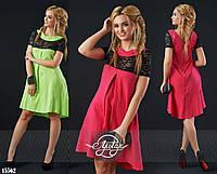 Льняное платье с молнией на спине - 15561