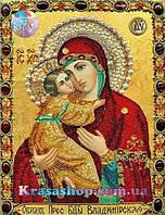 Алмазная вышивка 33х24 икона Пресвятая Богородица Владимирская