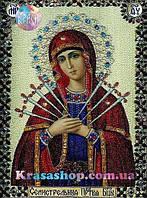 Алмазная вышивка 33х24 икона Пресвятой Богородицы «Семистрельная»