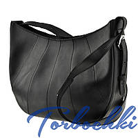 Наплечная женская сумка в стиле Hobo 2 в 1 из натуральной кожи