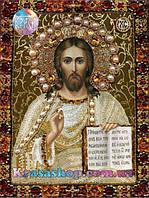 Алмазная вышивка 34х24 икона Иисус Христос, фото 1