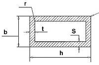 Чертеж труба прямоугольная