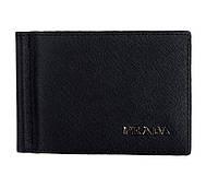 Бумажник с зажимом  для денег Prada P-7006 черный
