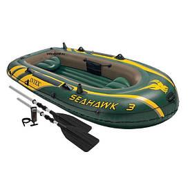 Лодка трехместная с набором Intex 68380