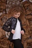 Школьная блузка Кружево Зиронька 3629-2, цвет белый с черным