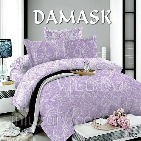 """Комплект постельного белья """"Viluta-поплин Дамаск"""", двуспальный, фото 2"""