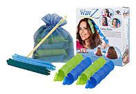 Волшебные спиральные бигуди Hair Wavz Хейр Вейвз для длинных волос 50 см 18 шт v