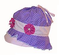 Панамка в горошек для девочки