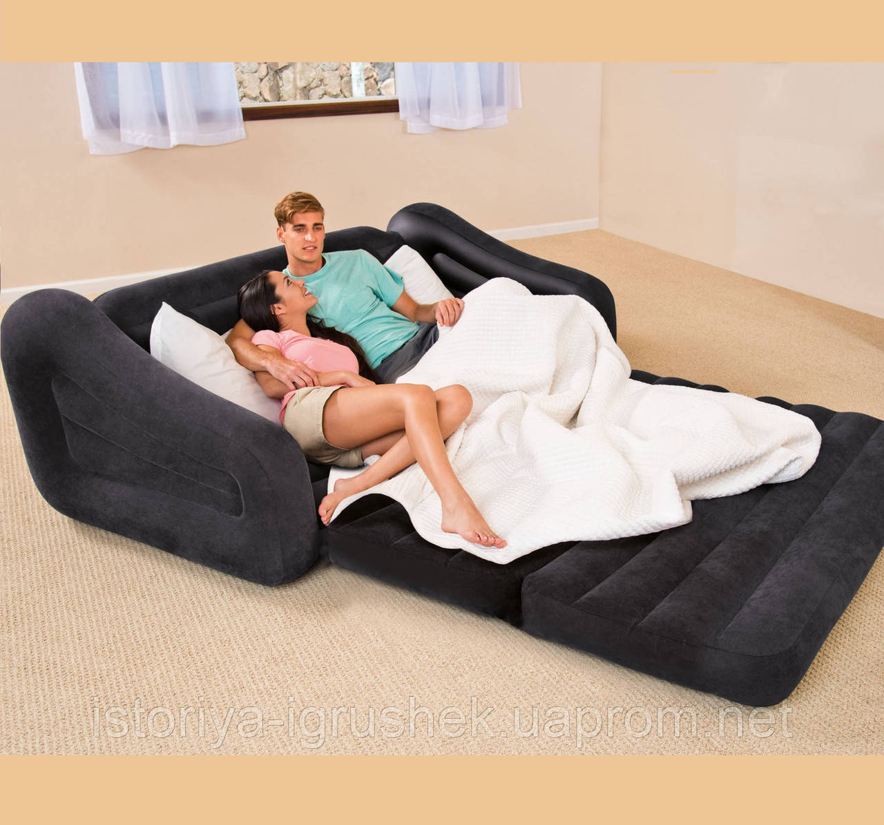 Велюр диван INTEX 68566