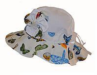 Панамка  с бабочками детская.