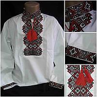 """Вышитая рубашка """"Добрыня"""" для мальчика на поплине, рост 110-158 см., 200/170 (цена за 1 шт. + 30 гр.)"""