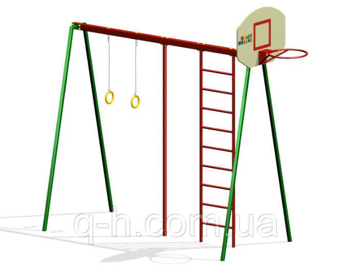 Гимнастический комплекс с баскетбольным щитом для улицы